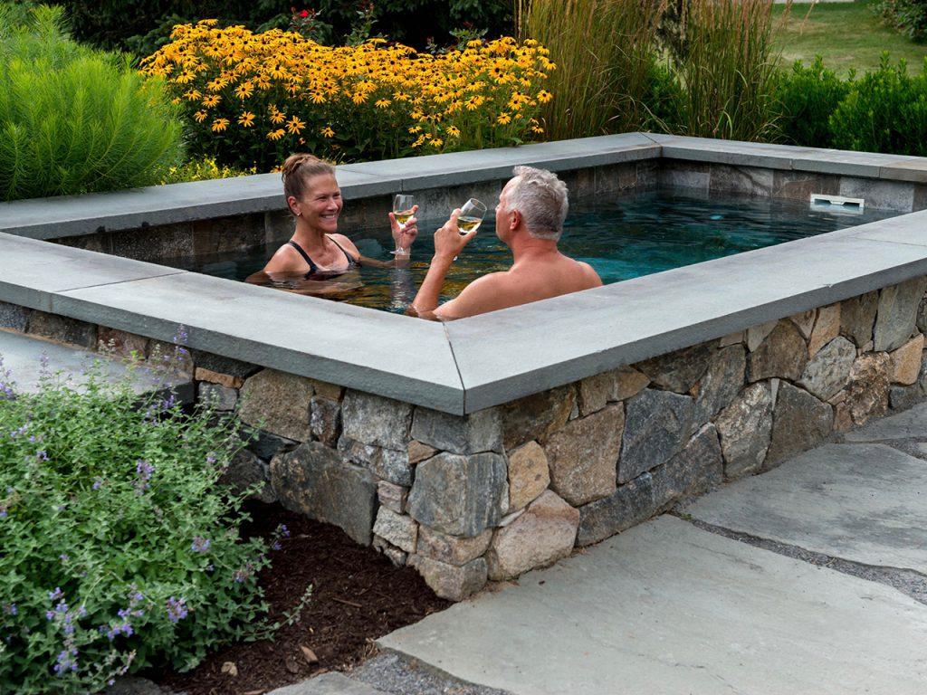 Photo of couple enjoying a plunge pool by Soake Pools