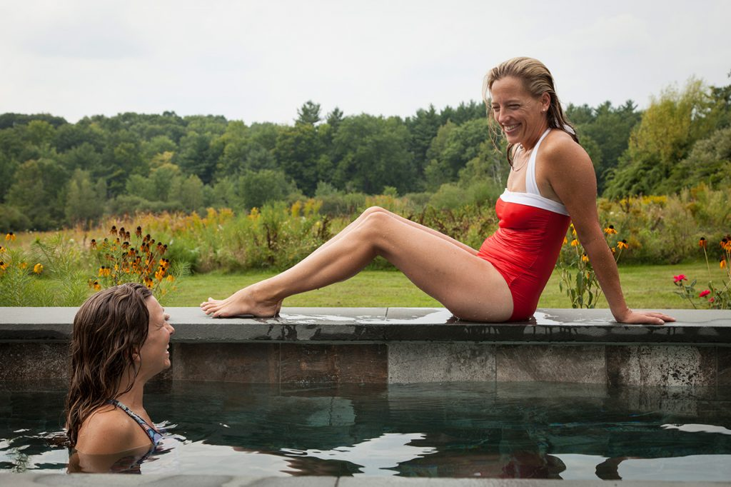 Photo of women enjoying a plunge pool by Soake Pools