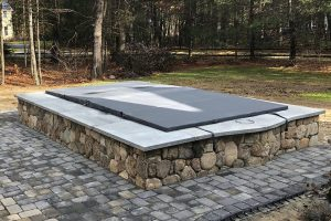 Textured Folding Spa Cover